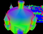 Model with Smooth Vertex Normals